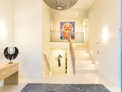 Painting stairwell and entryway at Codrington Crescent
